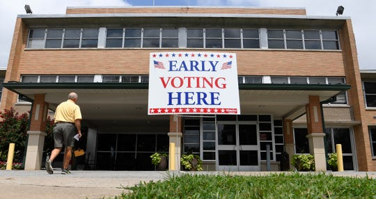 Early voting has opened at the Williamson County election commission Monday, July 16, 2018, in Franklin, Tenn.