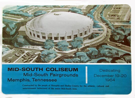"""Celebrated when it opened in 1964, the now unutilizied Mid-South Coliseum will be the site of a daylong Saturday """"revival"""" to encourage the building's preservation."""