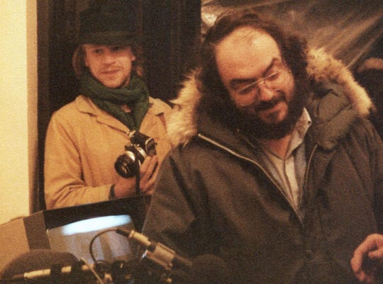 """The longtime working relationship of Leon Vitali (left) and director Stanley Kubrick is chronicled in """"Filmworker,"""" which screens Tuesday."""