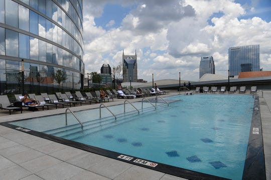The pool at the JW Marriott Tuesday, July 17, 2018, in Nashville, Tenn. .
