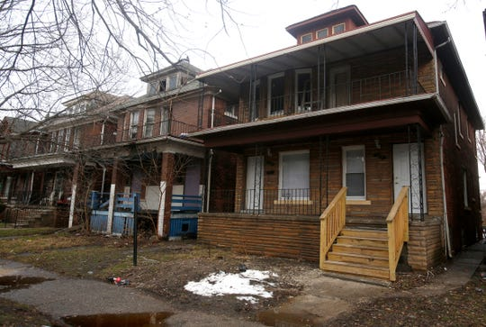 An exterior view of the childhood home of Motown legend Diana Ross on Belmont Street in Detroit on Thursday, January 11, 2018. The house two doors down on the left was the childhood home of another Motown Legend Smokey Robinson.