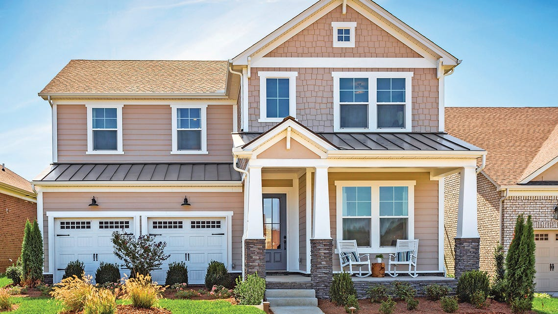 The Collette is one of several home designs available at River Oaks.