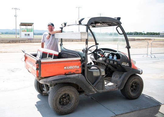 This will be the first year for Ross County Fair groundskeeper Karlton Wheeler as having the job of being the soul person responsible for the condition of the fairgrounds. Wheeler worked under Scott Chenault for four years before assuming the position.