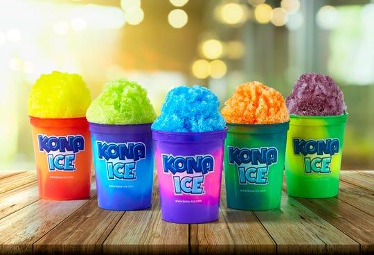 Kona Ice, gourment shaved ice.