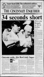 2.) 1988 season – The Bengals march to the Super Bowl, but fall to the 49ers/Joe Montana comeback on Jan. 22, 1989.