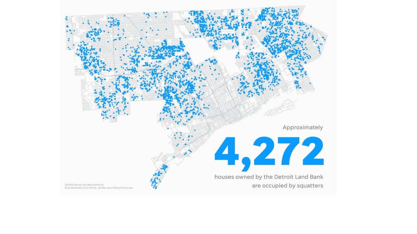 How does Detroit Land Bank know how many homes are occupied?