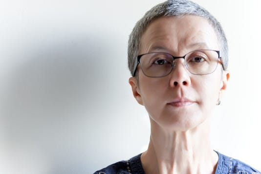 Mature Woman In Progressive Glasses