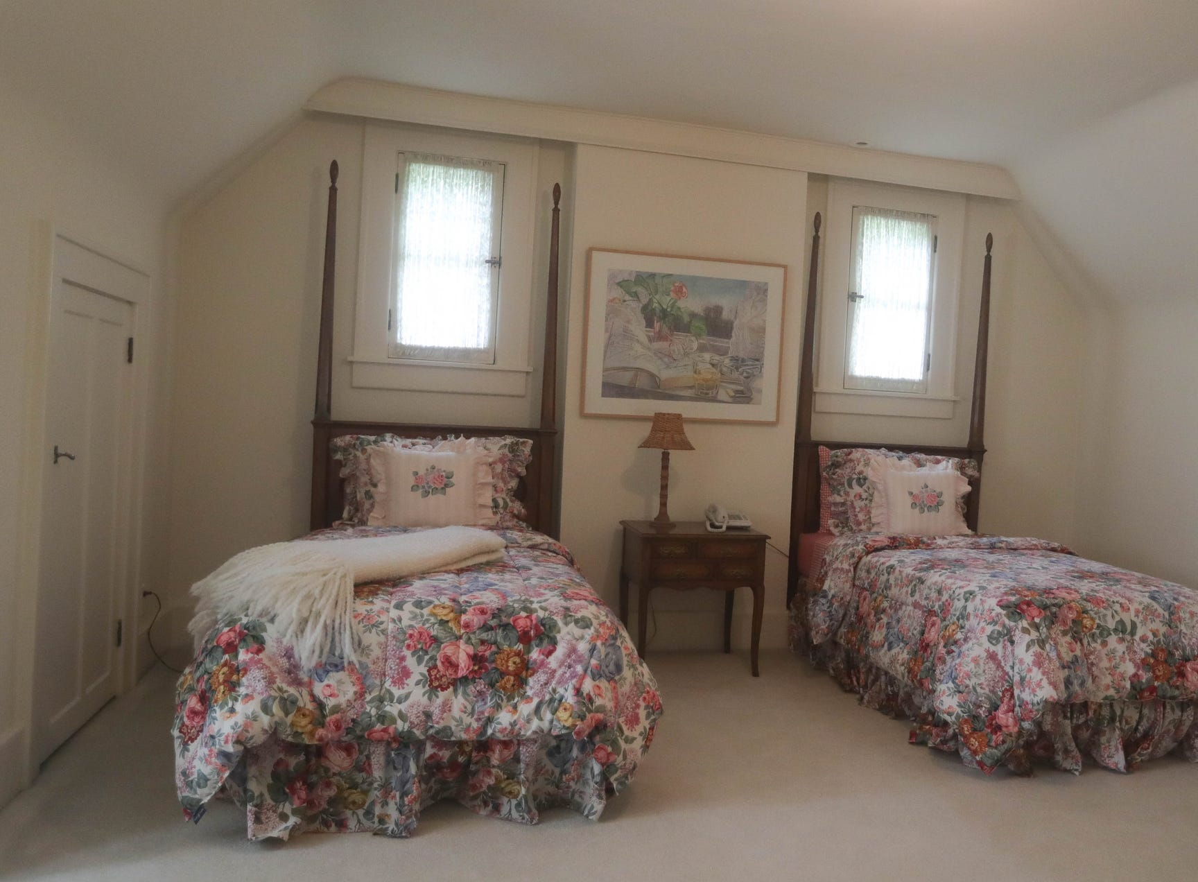 A guest bedroom has been created on the third  floor.  It replaces one that was sacrificed on the second floor to make bigger baths and closets.