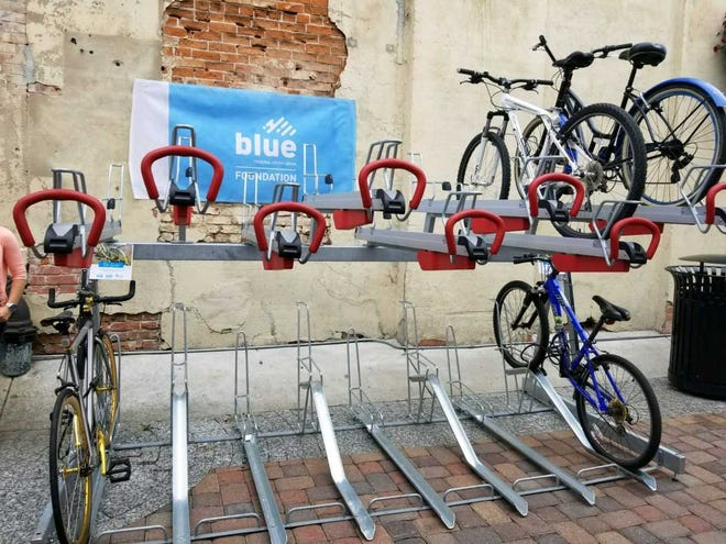 Thursday, July 12,  2018 was the ribbon cutting ceremony for double-tier bike racks now stationed in downtown Fort Collins. The racks aim to give additional storage space for bikes.
