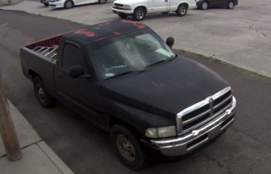 """The black 2001 Dodge Ram 1500 with the Tennessee license plate number """"2K42M8"""" that was stolen on Tuesday, July 17, 2018."""