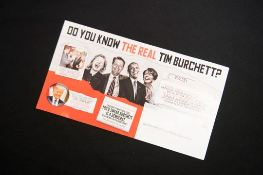 A political mailer sent by State Rep. Jimmy Matlock, Thursday July 19, 2018. The address was edited from this image for privacy.
