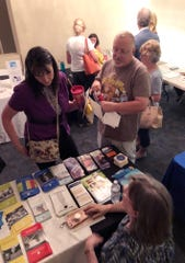 """Folks gathered information from agencies before """"A Way Forward"""" solutions for drug-addiction event."""