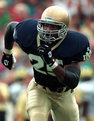 Randy Kinder followed a standout varsity career at East Lansing with success at Notre Dame.