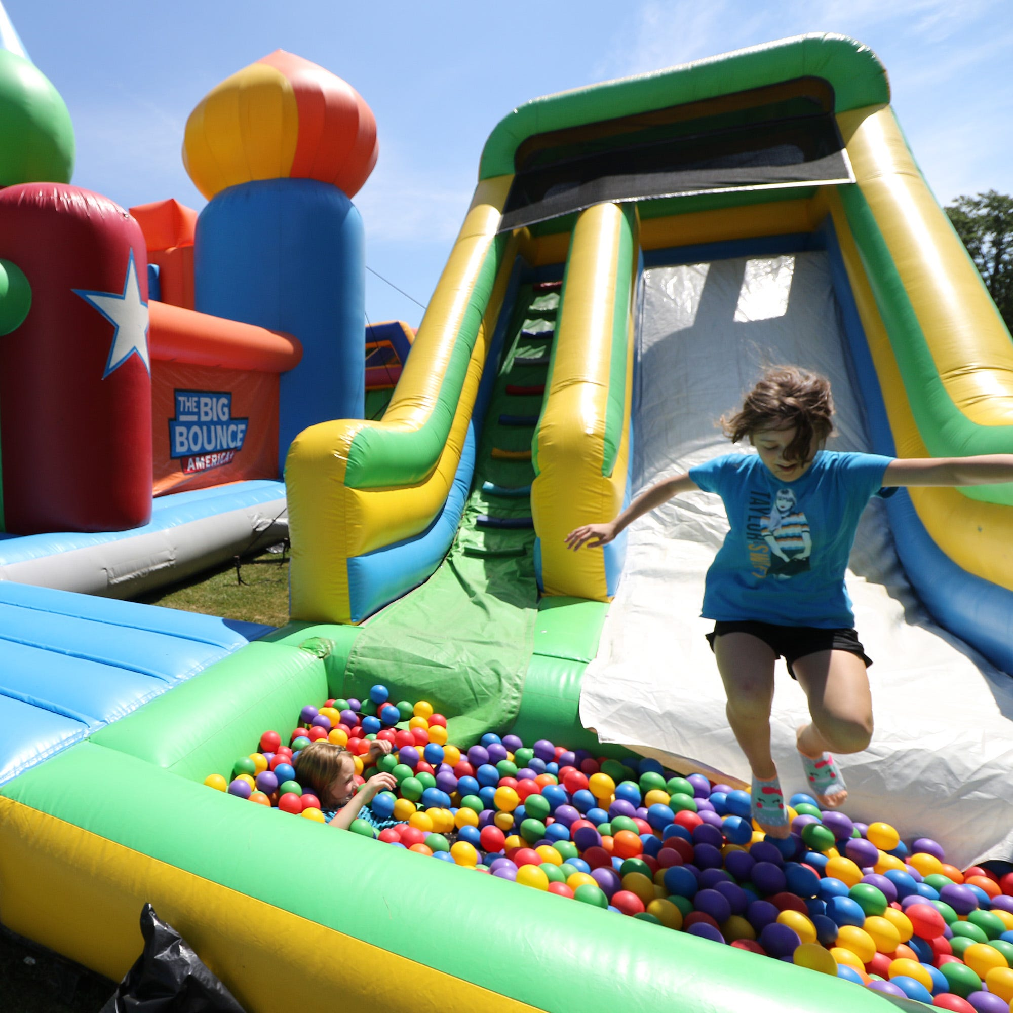 Here's what you can do at the world's biggest bounce house at Greenfield Park this weekend