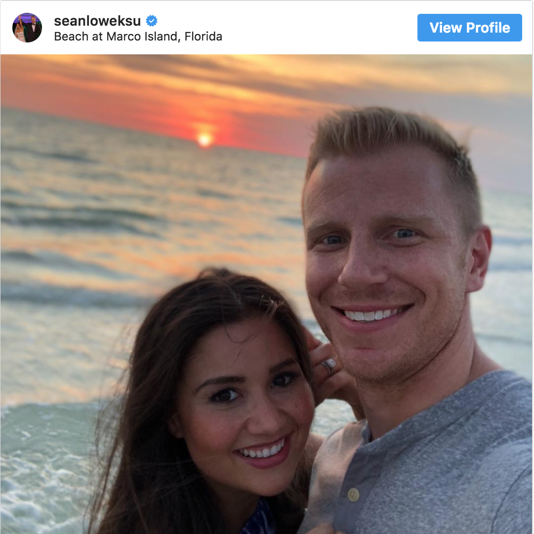 Sean and Catherine Lowe from 'The Bachelor' recently vacationed in Southwest Florida. See where they went