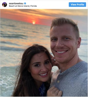 'Bachelor' couple Sean and Catherine Lowe spent their week taking in SWFL sunsets at the JW Marco Island Marriott Resort.