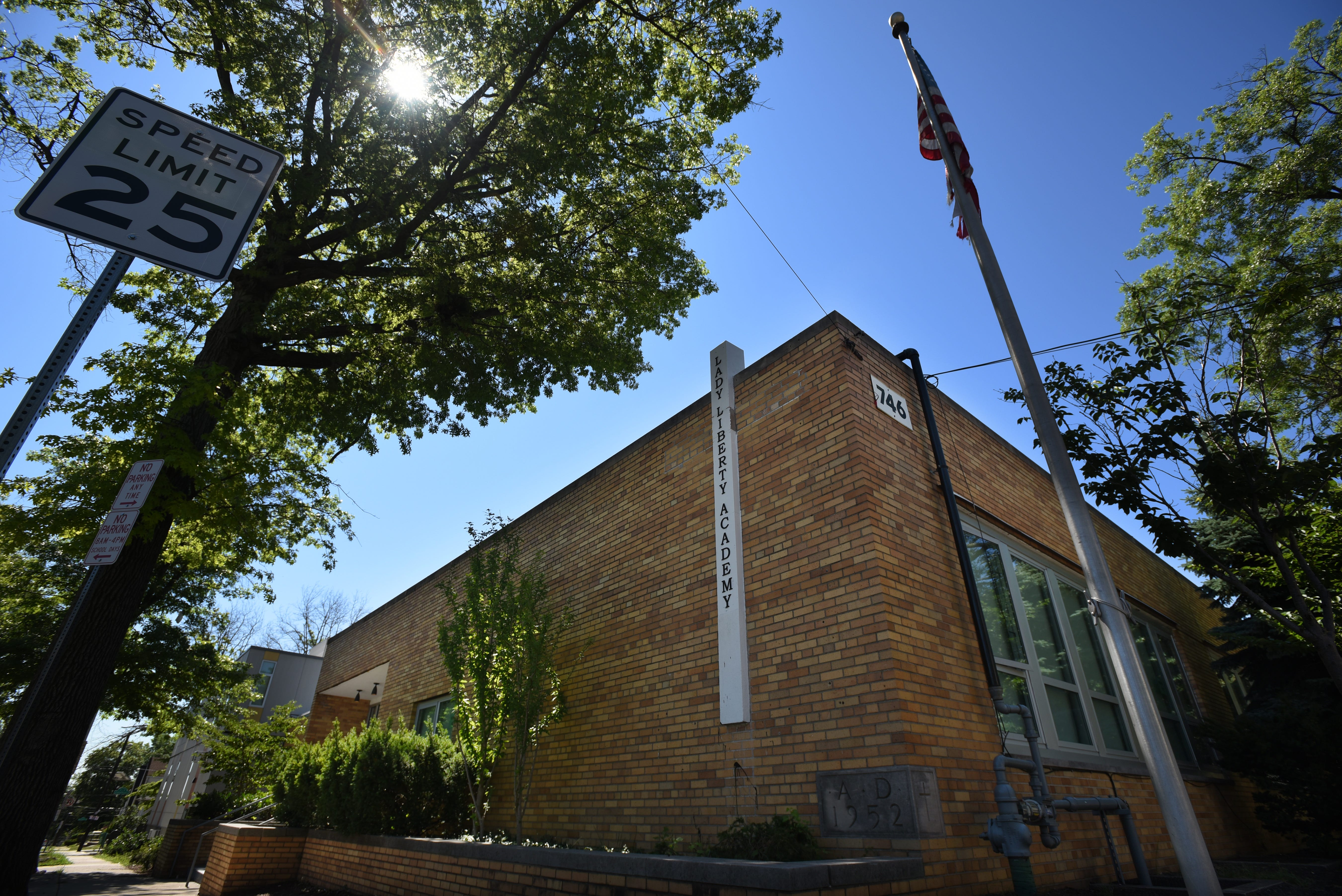 Lady Liberty Charter School in Newark was closed at the of the 2017-18 school year. An auction was held at the school to sell off its building's contents.