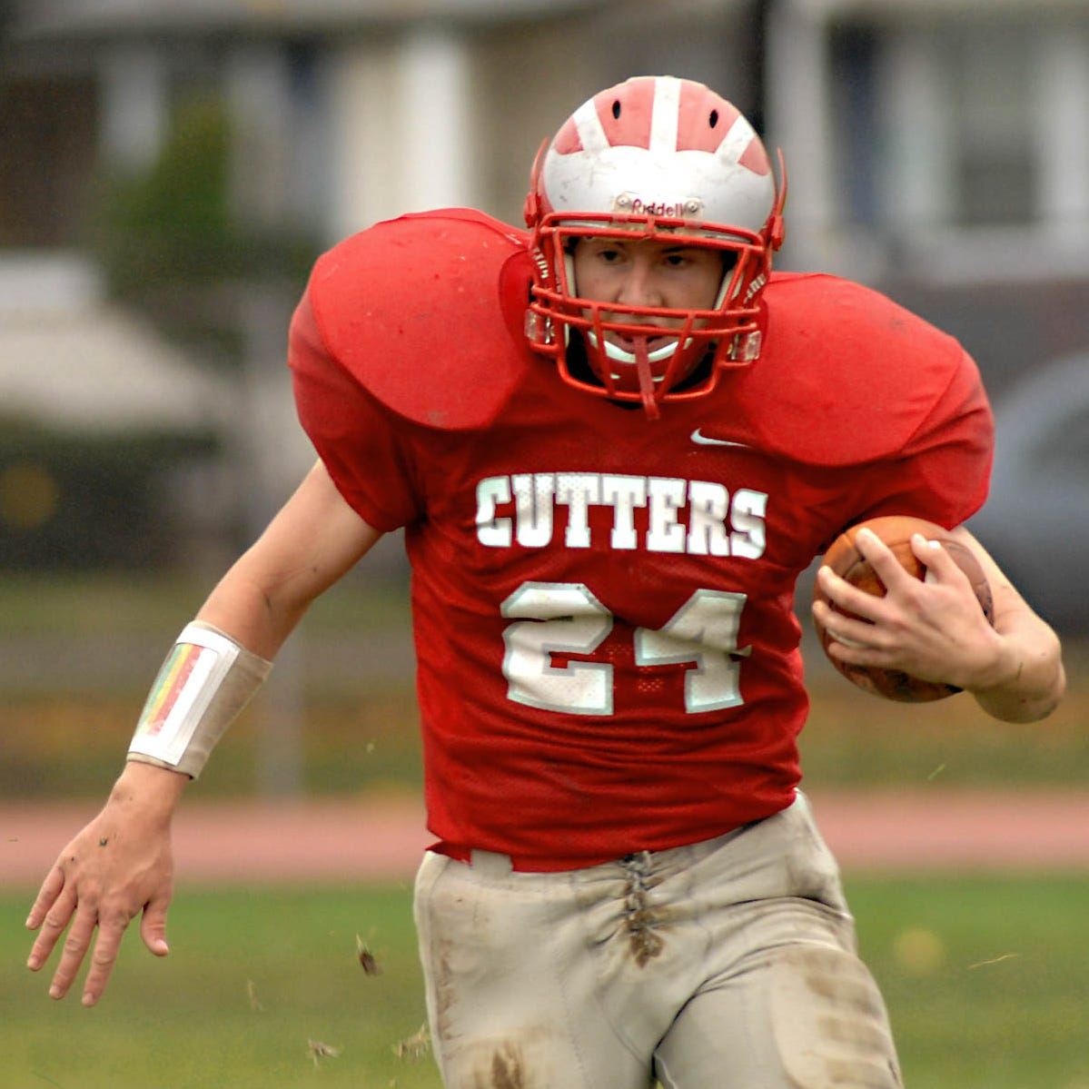 Fair Lawn running back Jim Hegybeli scores a touchdown during a 2009 playoff game. Fair Lawn's teams are called the Cutters.