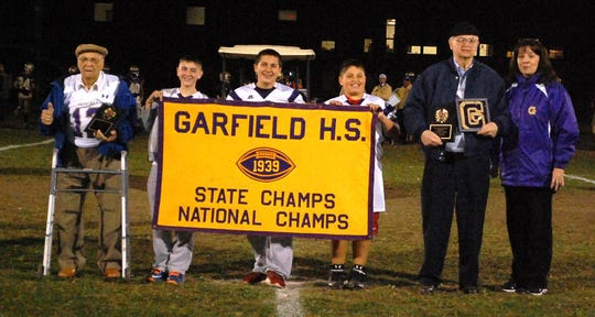 Garfield High School honored the 1939 state championship football team in 2014. Garfield's teams are called the Boilermakers.