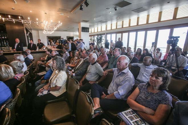 Attendees listen to speakers at the 1st Annual Coachella Valley Sports Tourism Summit on Thursday, July 19, 2018 at Fantasy Springs Resort Casino in Indio. The focus of the summit is the proposed new sports complex in the Coachella Valley.