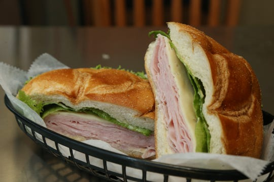 A ham sandwich at the Cake Artist Cafe in New Paltz on July 17, 2018.
