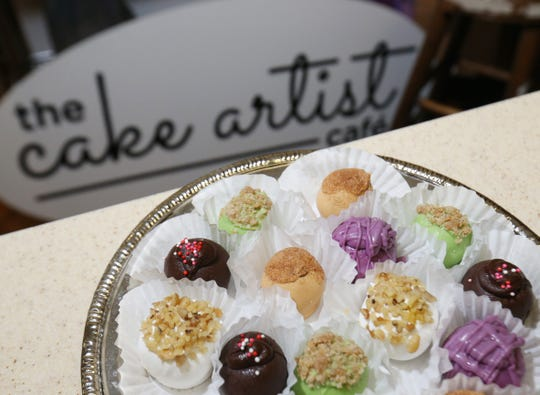 A sampling of cake balls at the Cake Artist Cafe in New Paltz on July 17, 2018.