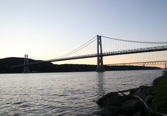 The Hudson River and Mid-Hudson Bridge in the City of Poughkeepsie on July 18, 2018.