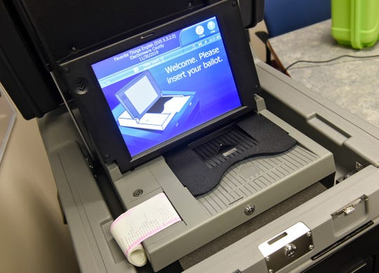 This 2018 St. Cloud Times file photo shows what was then a new ballot box.