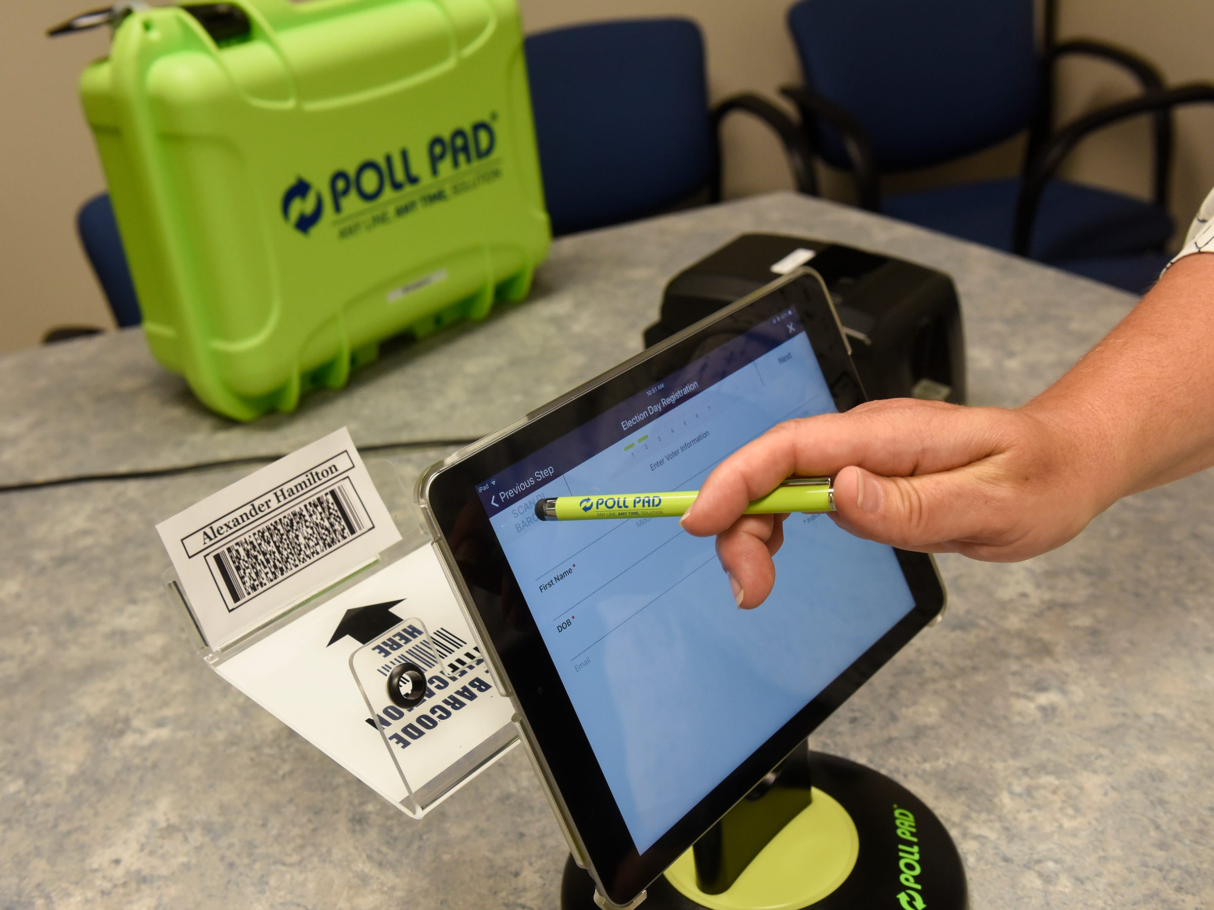 High-tech equipment ready for use at Stearns County polls