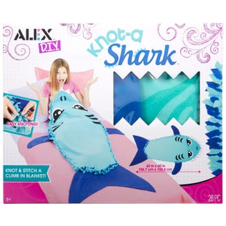 The Alex D.I.Y. Knot-a-Shark climb-in blanket.