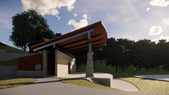 A rendering of an amphitheater being donated by Miron Construction to Jones Park in downtown Appleton.