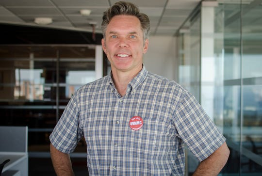 James Ehlers, a Democratic candidate for Vermont governor, is photographed in the Burlington Free Press newsroom on July 20, 2018.