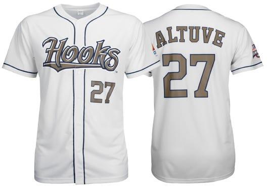 2018 Hooks Gold Altuve Jersey