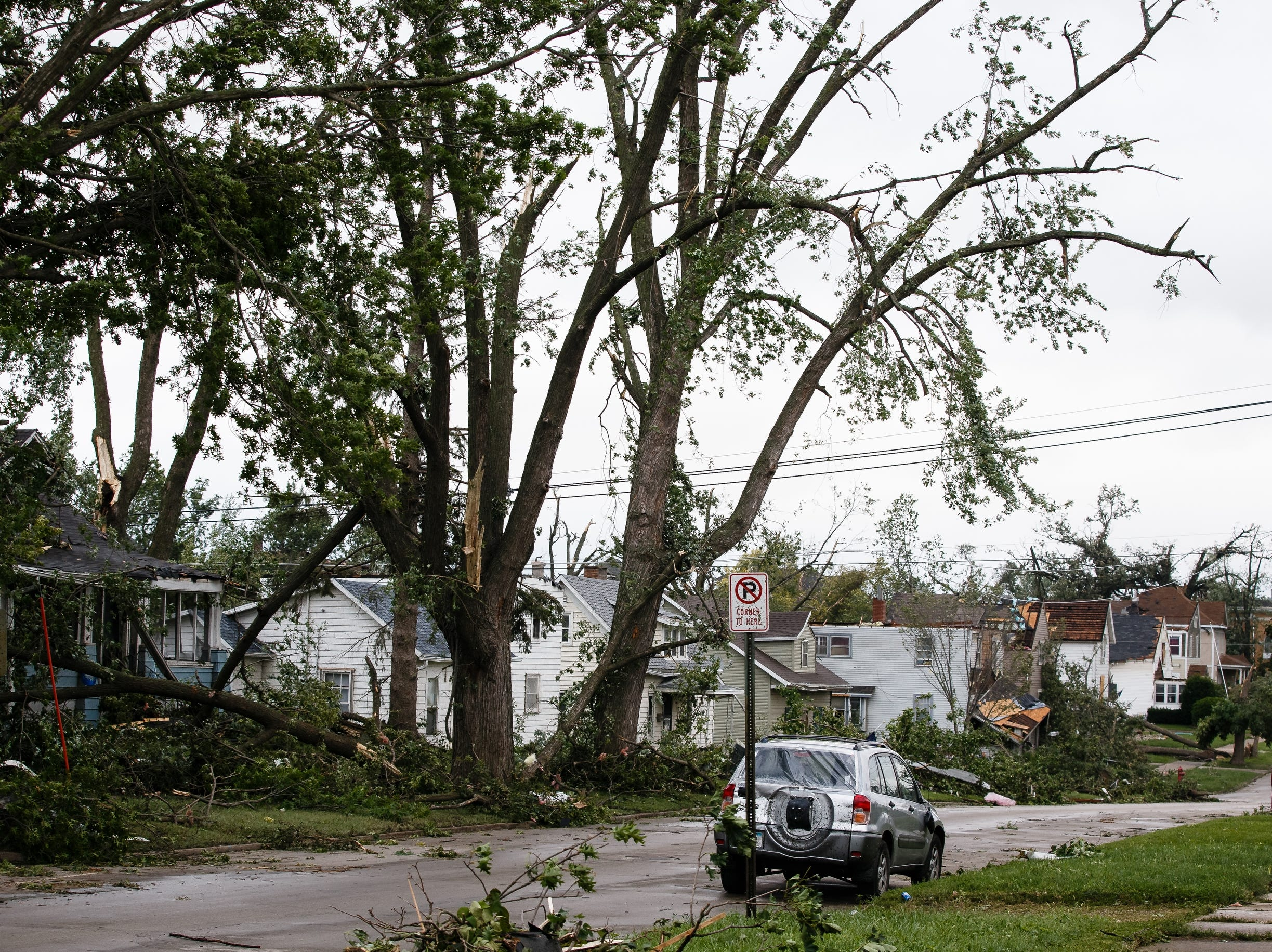Clean up continues after a tornado swept through Marshalltown on Friday, July 20, 2018.