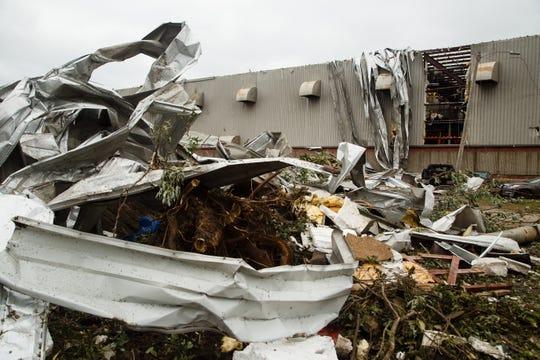 The Lennox International plant in Marshalltown was shredded in a July 19 tornado.