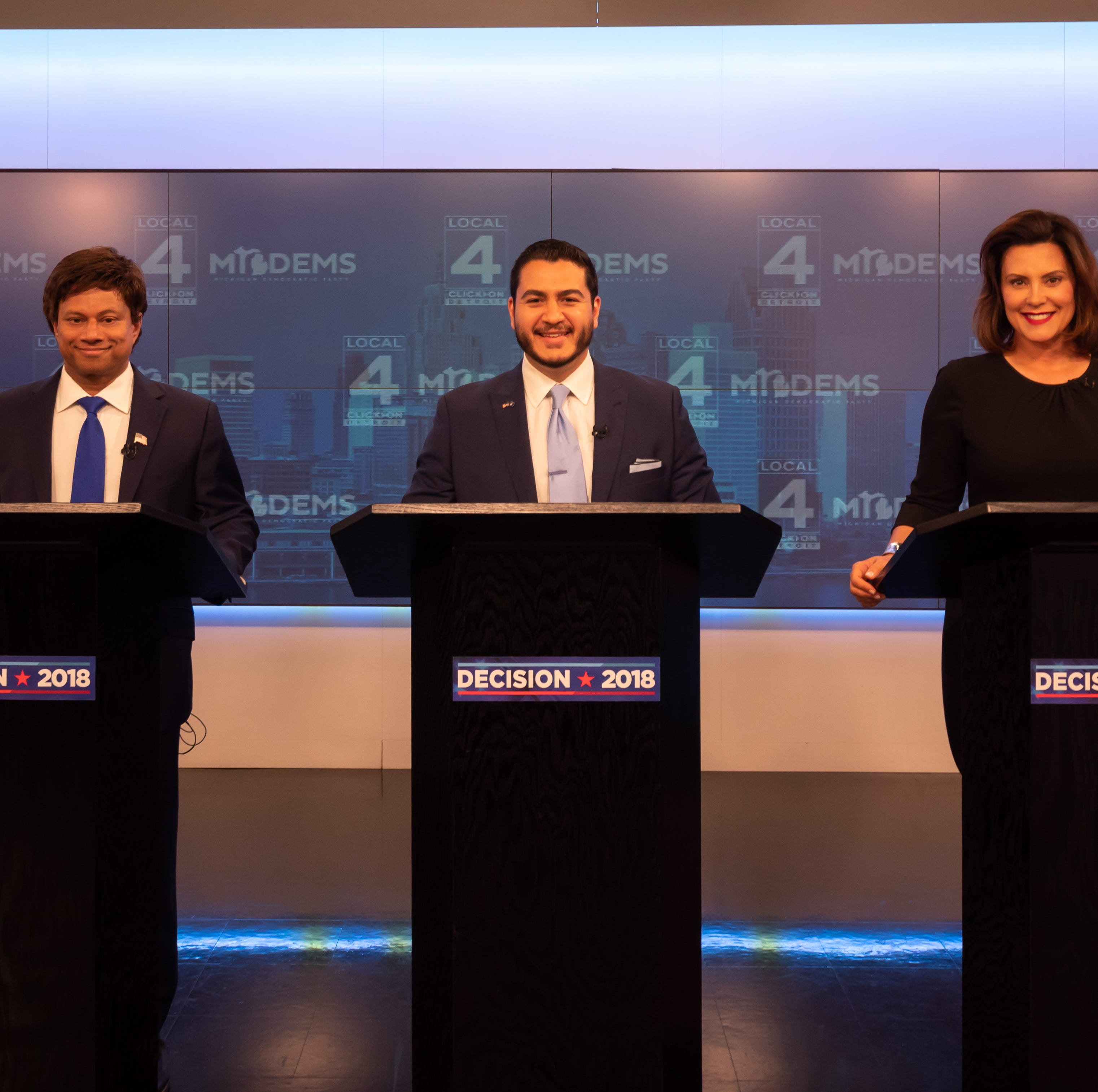 Democratic candidates trade jabs in final debate before Aug. 7 election