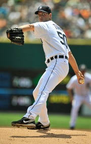 Jacob Turner was 1-1 with an 8.03 ERA in three starts with the Tigers in 2012 before being dealt to the Marlins in exchange for Anibal Sanchez and Omar Infante.