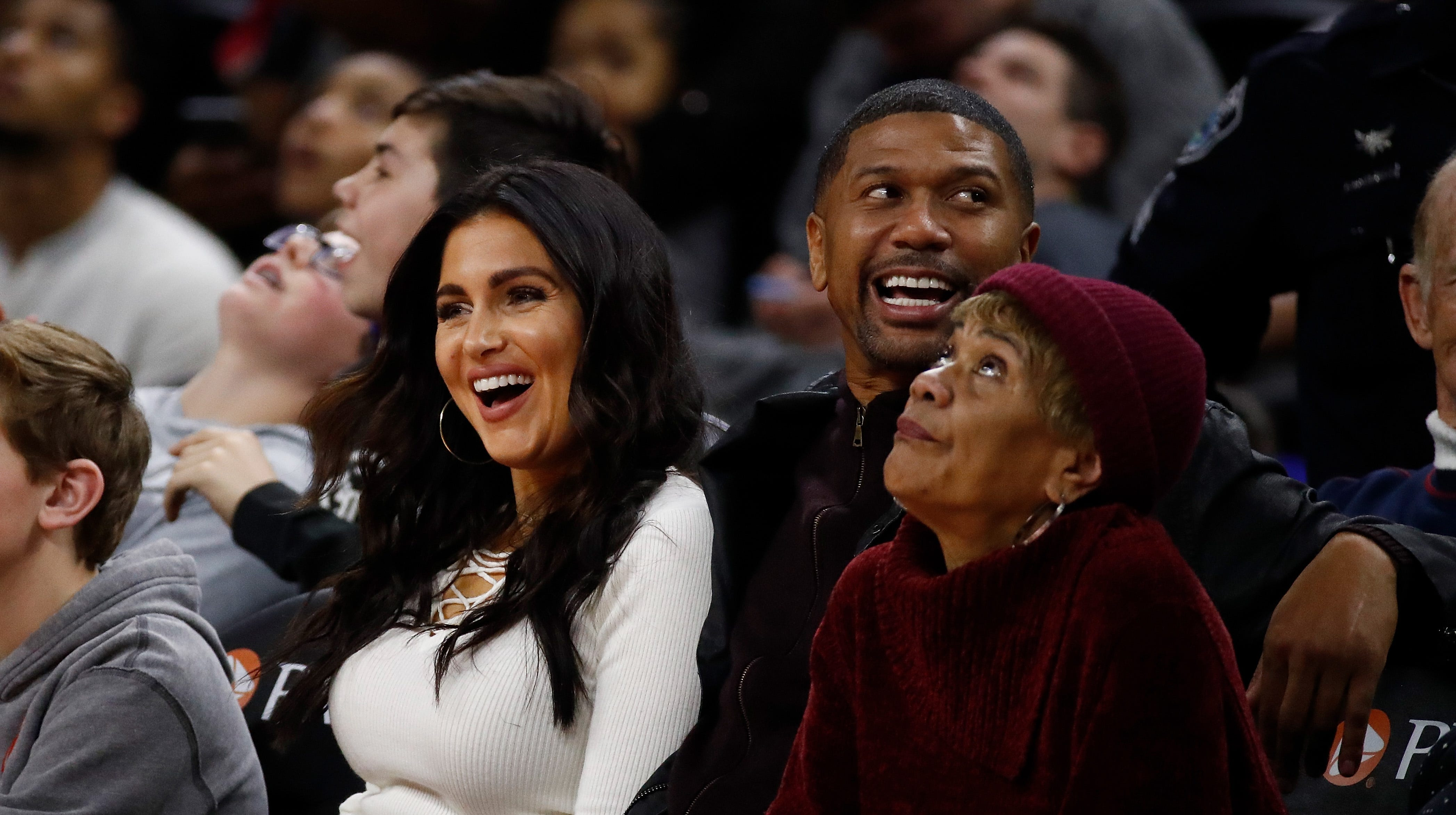Molly Qerim and Jalen Rose, here attending a Pistons game at The Palace in 2016, were married.