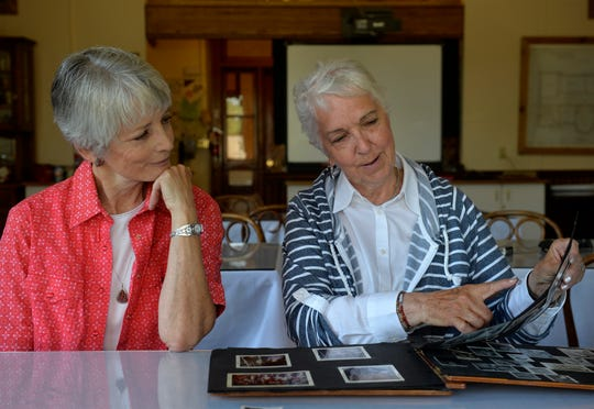 Vicki Beck, left, and Rita Christiaens grew up together in Dupuyer, Mont.,  and have been friends for 70 years.  This month they plan to celebrate their life long friendship but have been coy about the details.
