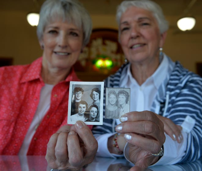 Vicki Beck, left, and Rita Christiaens grew up together in Dupuyer, Mont., and have been friends for 70 years. This month they plan to celebrate their lifelong friendship but have been coy about the details.