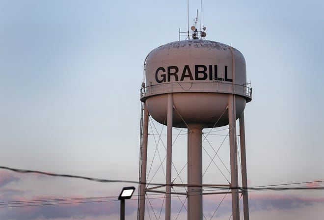 Grabill, Indiana is located 15 miles northeast of Fort Wayne and has a population of about 1,200, according to town council president Wilmer Delagrange. Downtown Grabill is pictured on Wednesday, July 18, 2018. Delagrange said he often saw the man being charged in April TinsleyÕs murder, John Miller, eating at the Grabill Inn, a restaurant frequented by locals that closed last year.
