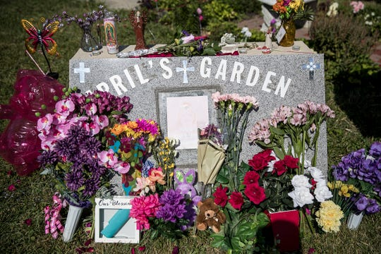 AprilÕs Garden is a memorial in the neighborhood where 8-year-old April Tinsley was last seen alive 30 years ago in Fort Wayne, Ind., pictured on Thursday, July 19, 2018.