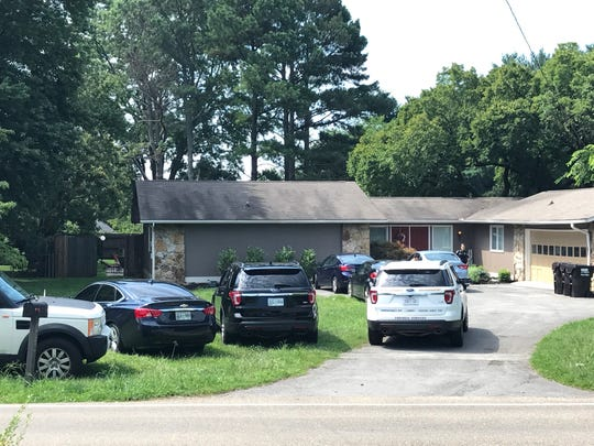 The scene at a house on Fox Lonas Rd. where two young children fell into a pool on Friday, July 20, 2018.