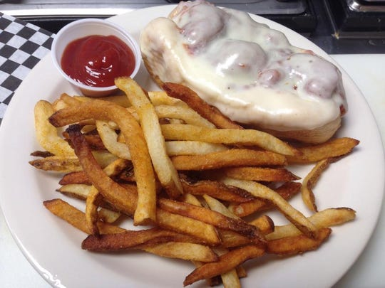A meatball sub and fries at G&D Market on Tipton Station Road in South Knoxville.