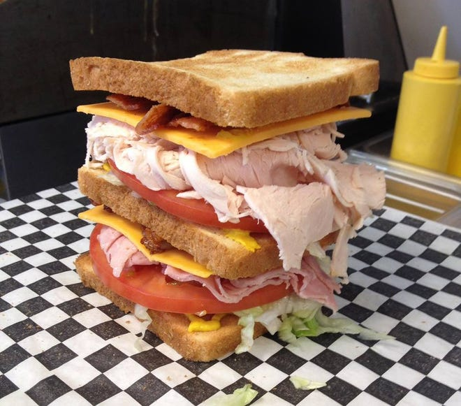 A club sandwich created at G&D Market on Tipton Station Road in South Knoxville.