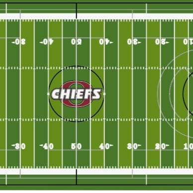 Here is the rendering of what the new synthetic turf on the Okemos football field will look like.