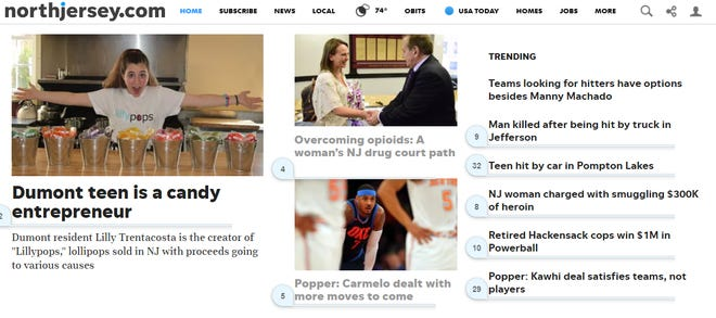 The NorthJersey.com website has a new look