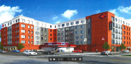 A rendering of a 150-apartment construction project at Wanaque and Lenox avenues pitched to Pompton Lakes officials by Capodagli Property Company of Linder in July 2018.