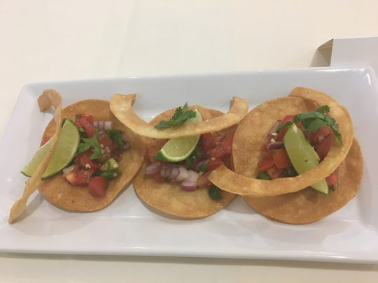 Chips and salsa created by chef Jose Chavez during the Chef Showdown at Atria Palm Desert on San Pasqual Avenue.