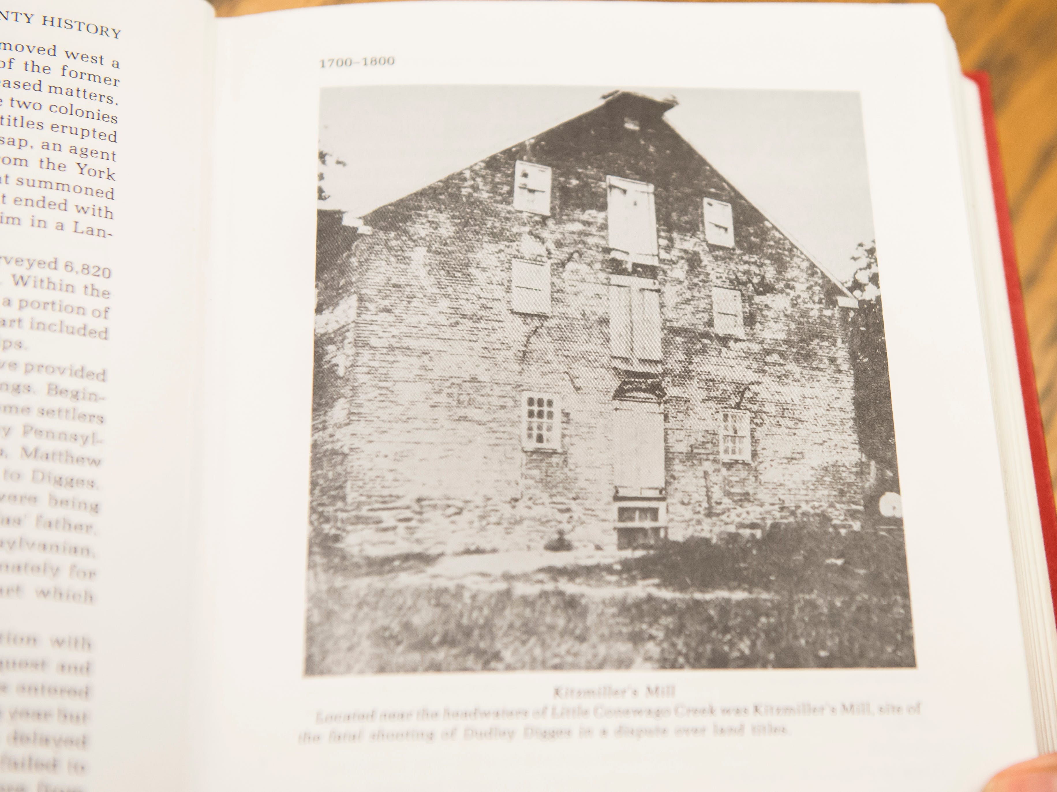 A photograph of the Kitzmiller's Mill, taken sometime in the late 19th century.